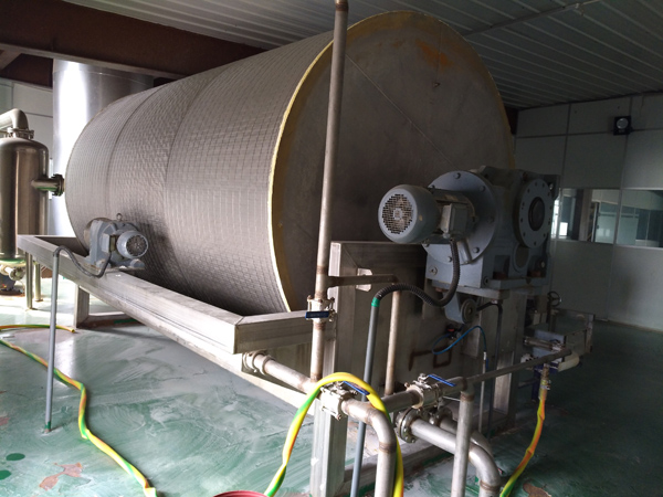 Cassava starch production plant