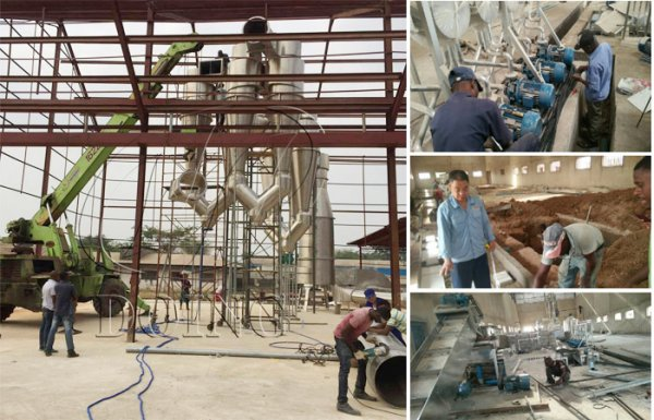 Cassava starch production plant installed in Nigeria