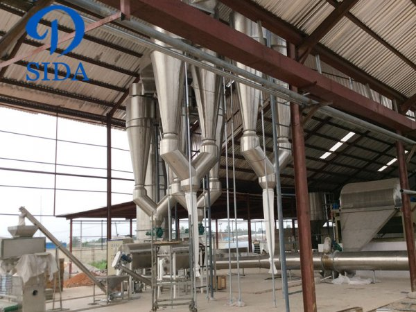 scale cassava flour processing equipment purchased by Nigerian customers